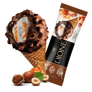גלידת שמנת קרמל אגוזים | DIONE | קנדי גלידה עד הבית